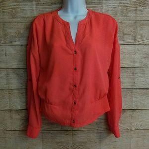 Xhilaration Bright Orange Long Sleeve Top. XS